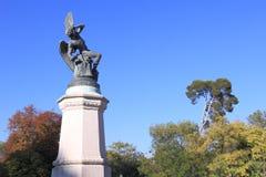 Stupad ängel i Madrid Royaltyfria Bilder