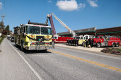 Stupad brandman Honored Royaltyfria Bilder
