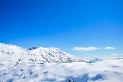 Stupad snö på det Hatcher passerandet i Alaska arkivfoton