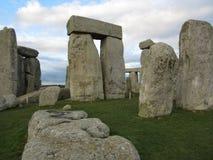 Stupad sten på Stonehenge Royaltyfri Bild
