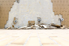 Stupade tegelplattor Royaltyfria Foton