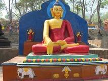 Stupaen av Swayambunath, Nepal arkivbild