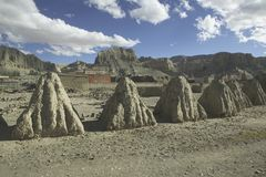 stupas西藏 库存照片