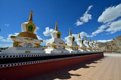 Stupas στο μοναστήρι Thiksey, Ladakh, Ινδία Στοκ φωτογραφία με δικαίωμα ελεύθερης χρήσης