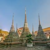 Stupas στο ναό Wat Po σύνθετο Στοκ Φωτογραφία