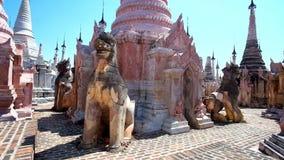 Stupas της περιοχής παγοδών Kakku, το Μιανμάρ απόθεμα βίντεο