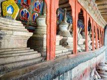 Stupas в стене Leh Стоковые Изображения