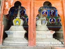 Stupas в стене Leh Стоковое Изображение RF