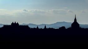 Stupas и пагоды Bagan старые Стоковые Фото