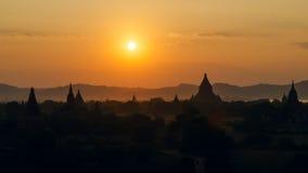 Stupas и пагоды Bagan старые Стоковое Фото