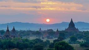 Stupas и пагоды Bagan старые Стоковое Изображение RF