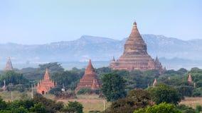 Stupas и пагоды Bagan старые Стоковые Изображения