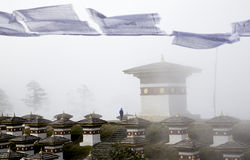 108 Stupas на Бутане Стоковая Фотография RF