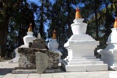 Stupas на монастыре Tashiding Стоковое фото RF