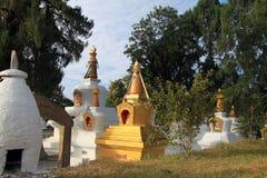 Stupas al monastero di Tashiding Fotografie Stock