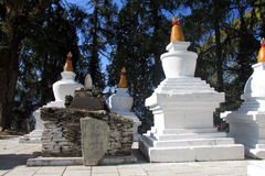 Stupas al monastero di Tashiding Fotografia Stock Libera da Diritti