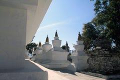 Stupas al monastero di Tashiding Immagine Stock