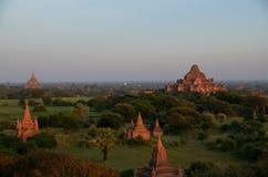Stupas in altem Bagan Stockbild