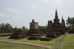 Stupas at Archaeological Park Buddhist temples of Sukhothai, Thailand Royalty Free Stock Photography