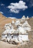 Stupas around Leh Royalty Free Stock Photos