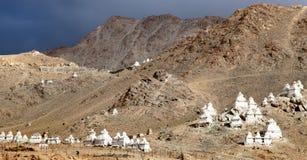 Stupas around Leh - Ladakh - India Stock Photo