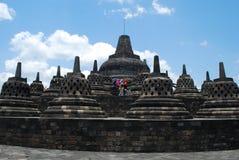 Stupas av Borobudur royaltyfria bilder