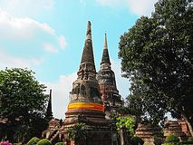 Stupas of Ayutthaya Stock Photos