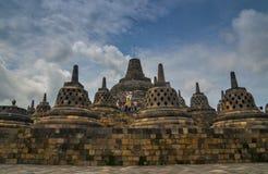 Stupas a Borobudur, Indonesia Immagine Stock Libera da Diritti
