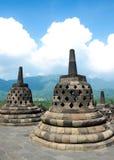 Stupas in Borobudur-Tempel, Jawa Tengah, Yogyakarta, Indonesien stockbild