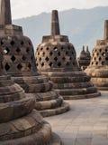 Stupas at Borobudur Temple Indonesia Stock Photos