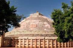Stupas bouddhistes antiques dans Sanchi photos libres de droits