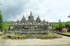 Stupas at Buddhist Temple in Bali, Indonesia. Stone carved stupas in garden at Buddhist Temple in Bali, Indonesia stock images