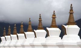 Stupas buddisti Fotografie Stock