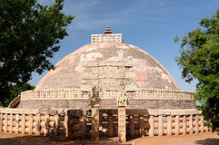 Stupas budistas antigos em Sanchi Foto de Stock Royalty Free