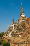 Stupas (chedis) de un Wat en Ayutthaya Fotos de archivo libres de regalías