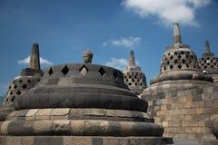Stupas de Borobodur près à Jogyakarta, île de Java, Indonésie Photographie stock libre de droits