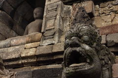 Stupas del tempio di Borobudur vicino a Yogyakarta, Fotografie Stock Libere da Diritti