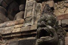Stupas del templo de Borobudur cerca de Yogyakarta, Fotos de archivo libres de regalías