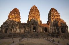 Stupas dorati dell'albero Immagine Stock
