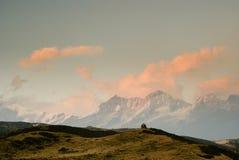 Stupas e os himalayas Fotografia de Stock