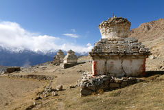 Stupas em Ladakh Imagem de Stock Royalty Free