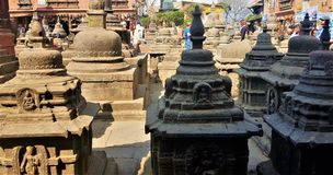 Stupas em Nepal imagens de stock