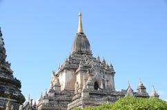 Stupas en Bagan viejo Imagenes de archivo