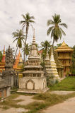 Stupas en de Palmen, Siem oogsten, Kambodja Stock Foto's
