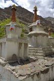 Stupas in Hemis Gompa, Ladakh, India Royalty-vrije Stock Afbeeldingen