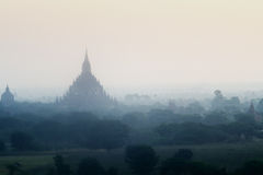 Stupas i pagody Bagan antyczni Obrazy Royalty Free