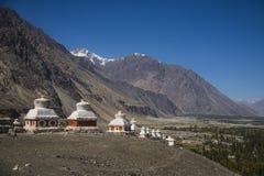 Stupas indiens Images libres de droits