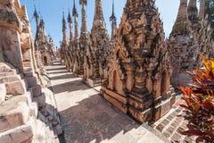 Kakku Pagoda Complex. Stupas in the Kakku Pagoda Complex in Myanmar Royalty Free Stock Photos