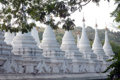 The 729 stupas known as the World's largest book in Myanmar. Royalty Free Stock Image