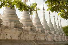 The 729 stupas known as the World's largest book in Myanmar. Royalty Free Stock Photos